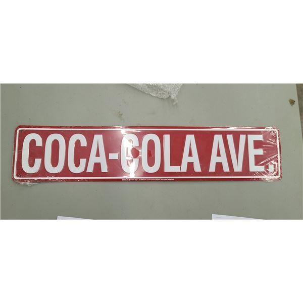 """COCA COLA AVE."" STREET SIGN"