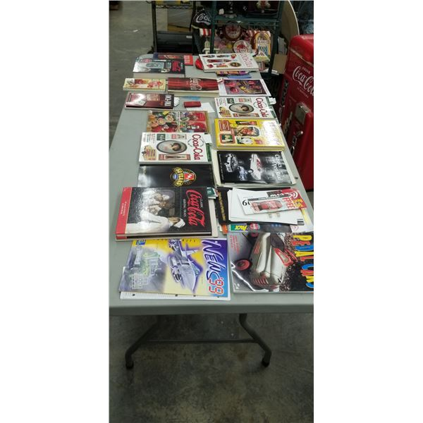 VARIETY OF COCA COLA ADS AND COLLECTORS BOOKS