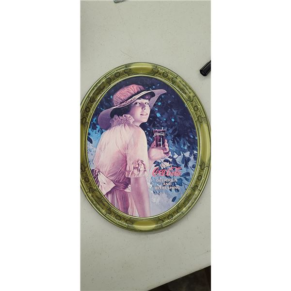COCA COLA TRAY REPRODUCTION OF 1916 WORLD WAR 1 GIRL ADVERTISEMENT, ISSUED 1976