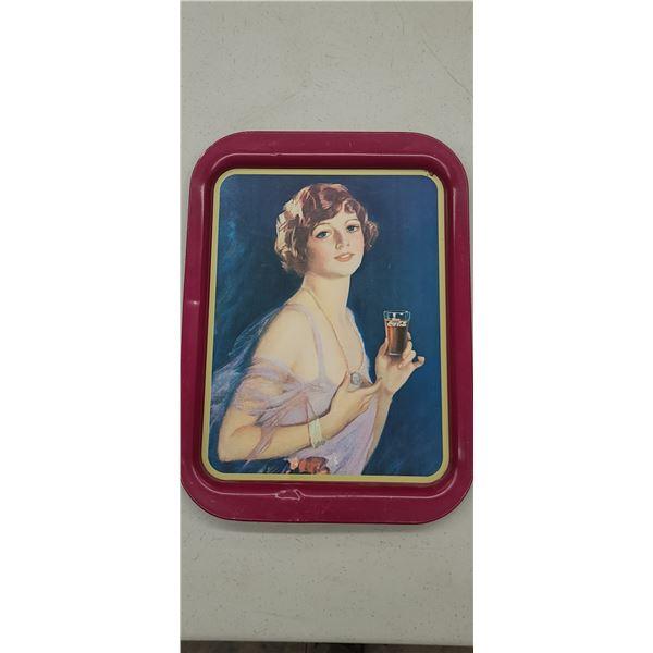 "COCA COLA TRAY ""1927 CALENDAR GIRL"" ISSUED 1974"
