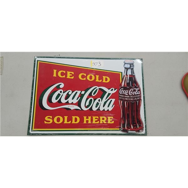 """""""ICE COLD COCA COLA SOLD HERE"""" LARGE MAGNET"""
