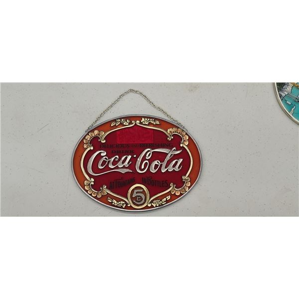 COCA COLA STAINED GLASS SUNCATCHER