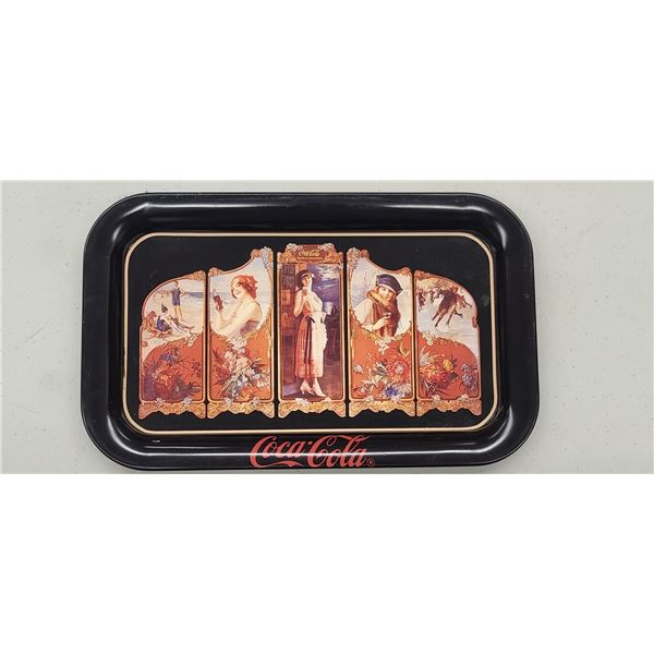 4 SEASONS COCA COLA TRAY ISSUED 1990