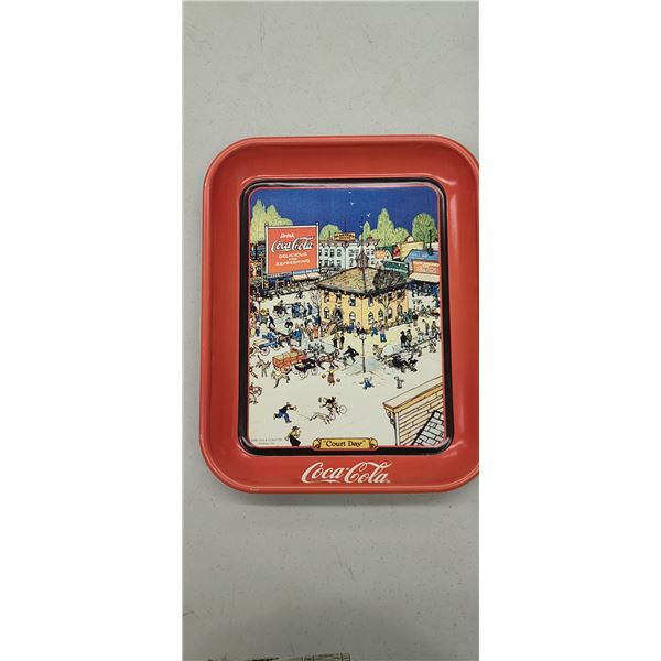 """""""COURT DAY"""" COCA COLA TRAY ISSUED 1990"""