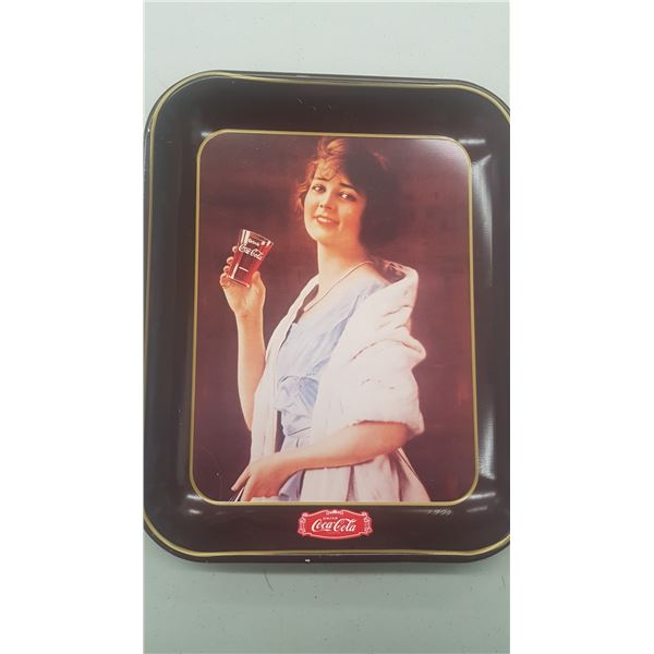 """COCA COLA TRAY REPRODUCTION OF """"FLAPPER GIRL"""" ISSUED 1979"""