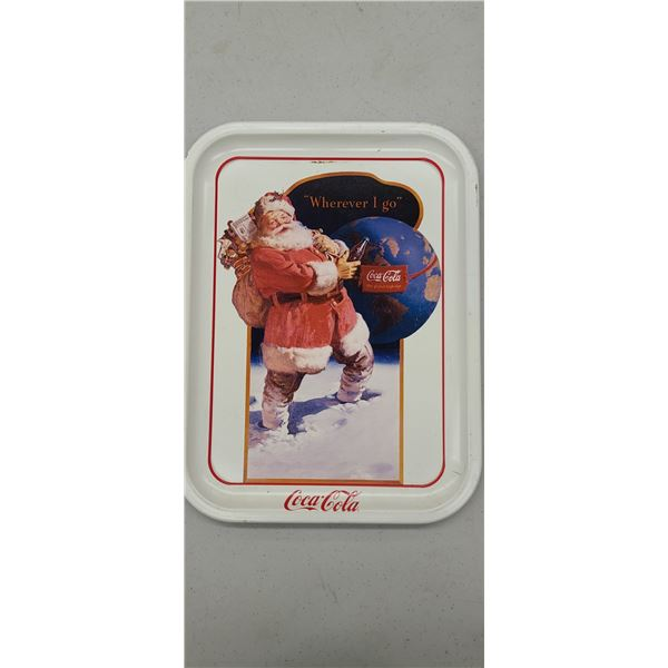 """""""WHEREVER I GO"""" COCA COLA TRAY ISSUED 1990"""