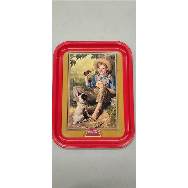 """""""BAREFOOT BOY"""" COCA COLA TRAY ISSUED 1991"""