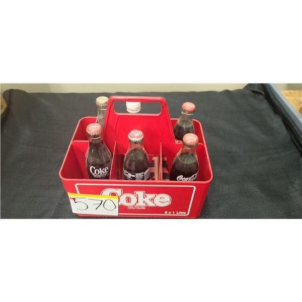 6 PACK OF COCA COLA BOTTLES
