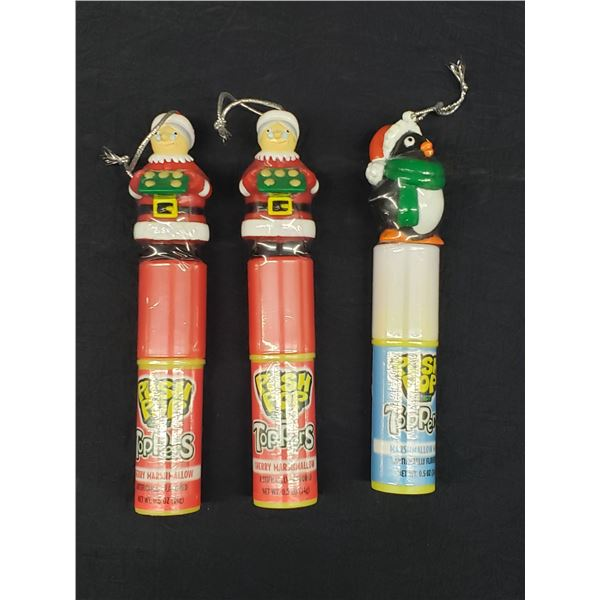 THREE PUSH POP CANDY TOPPERS
