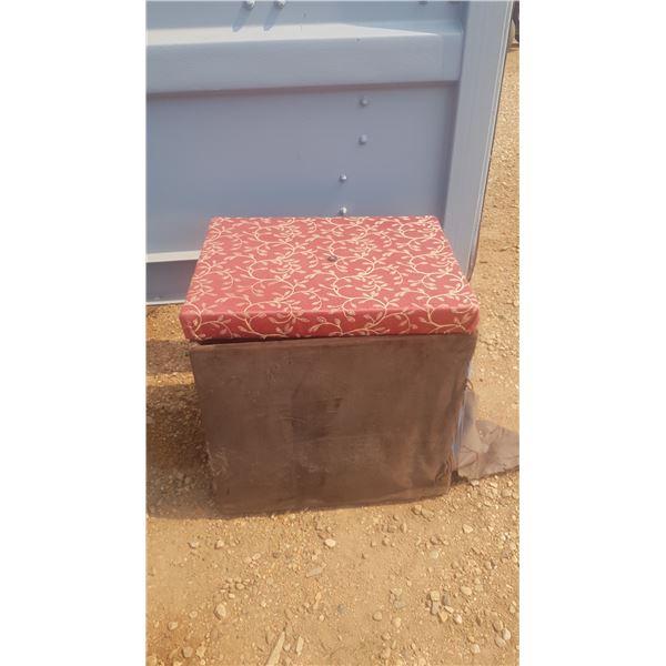 Storage Box/Foot Stool Appx 2' x 2' x 2'