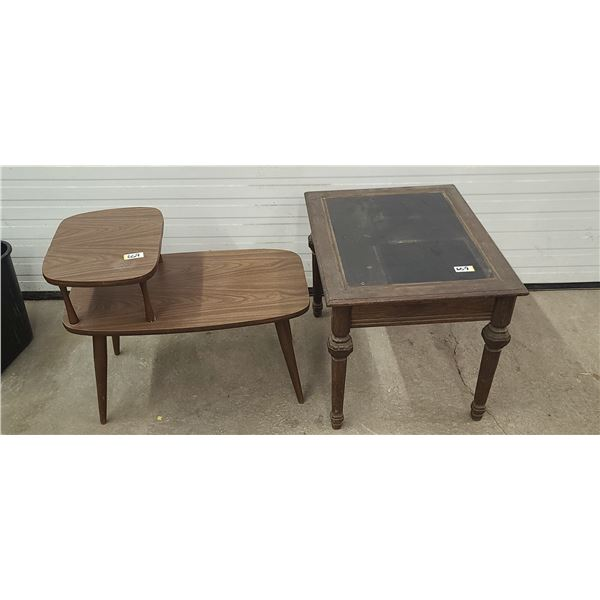 TWO SMALL COFFEE/SIDE TABLES