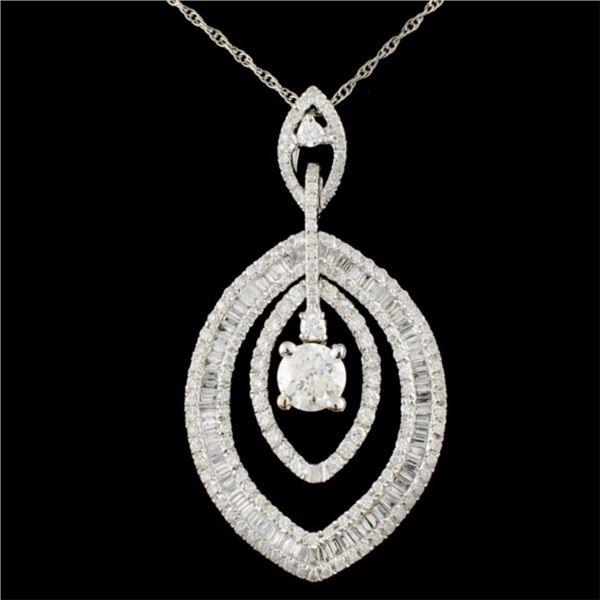 18K Gold 1.83ctw Diamond Pendant