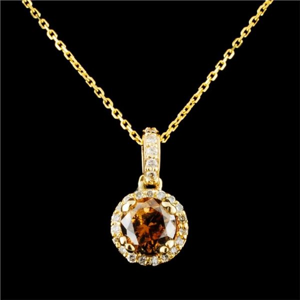 14K Gold 0.87ctw Diamond Pendant