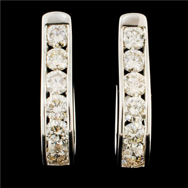 14K Gold 2.32ctw Diamond Earrings