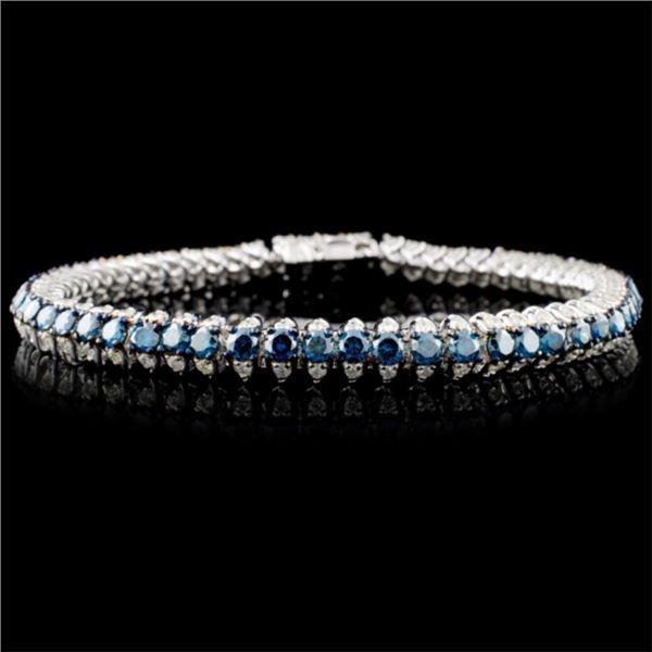 14K WG 6.19ctw Fancy Color Diamond Bracelet