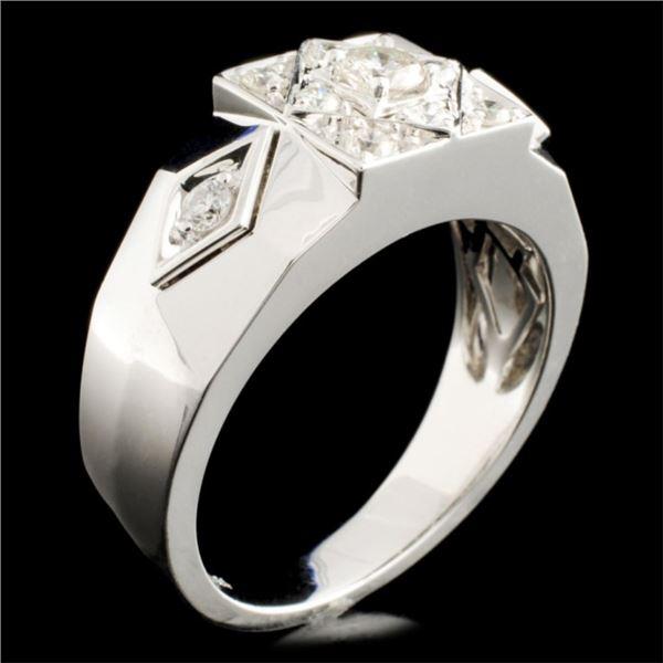 14K Gold 0.54ctw Diamond Ring