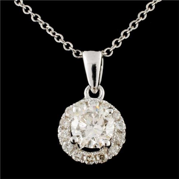 14K Gold 0.69ctw Diamond Pendant