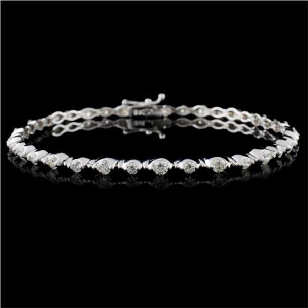 18K White Gold 2.00ctw Diamond Bracelet