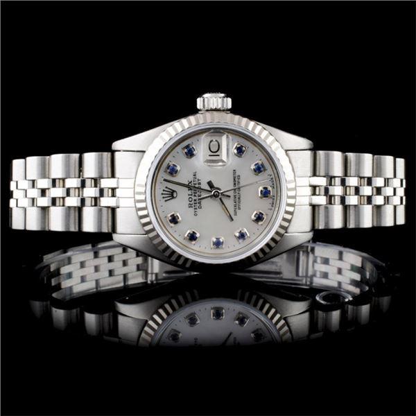 Rolex Stainless Steel DateJust Ladies Wristwatch