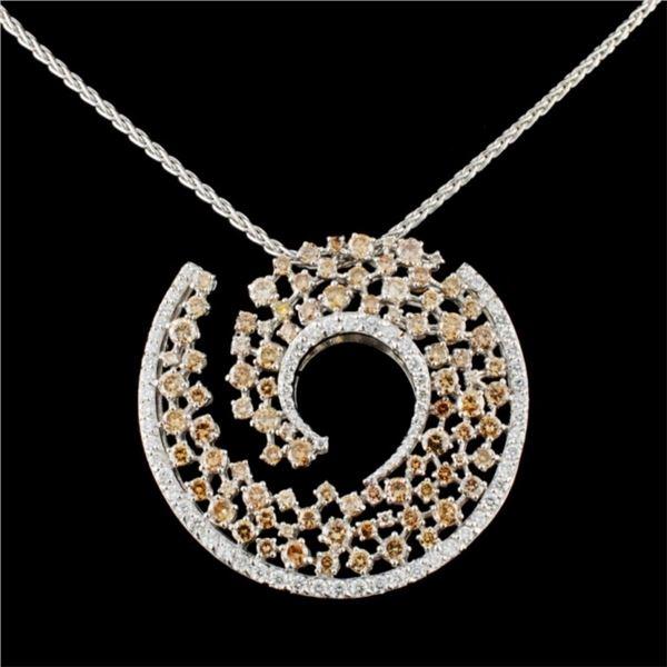 18K Gold 6.43ctw Diamond Pendant
