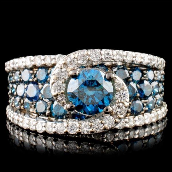 14K Gold 3.37ctw Diamond Ring