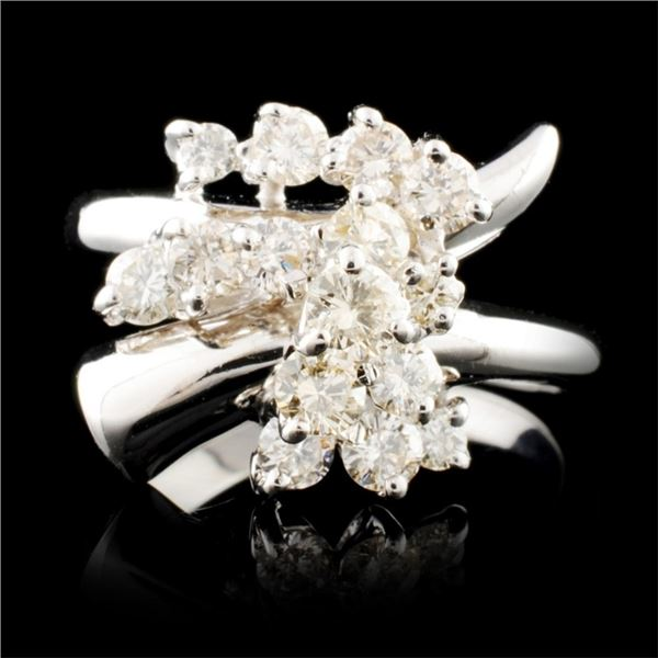 14K Gold 0.66ctw Diamond Ring