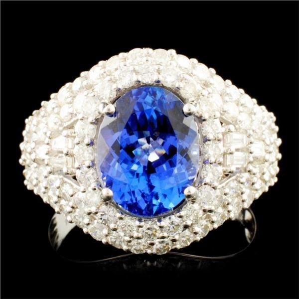 18K Gold 2.81ct Tanzanite & 1.65ctw Diamond Ring