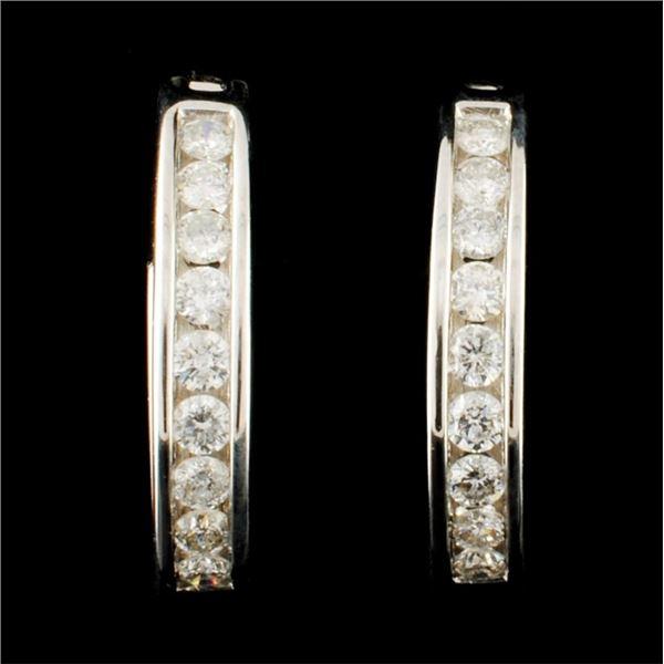 14K Gold 0.45ctw Diamond Earrings