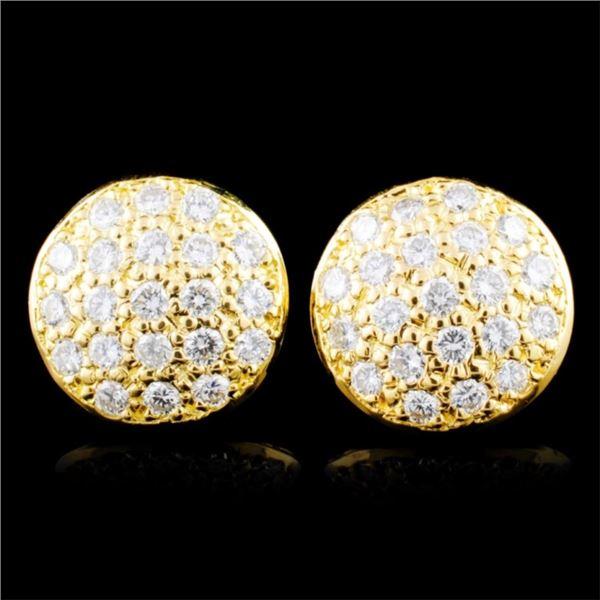14K Gold 0.76ctw Diamond Earrings
