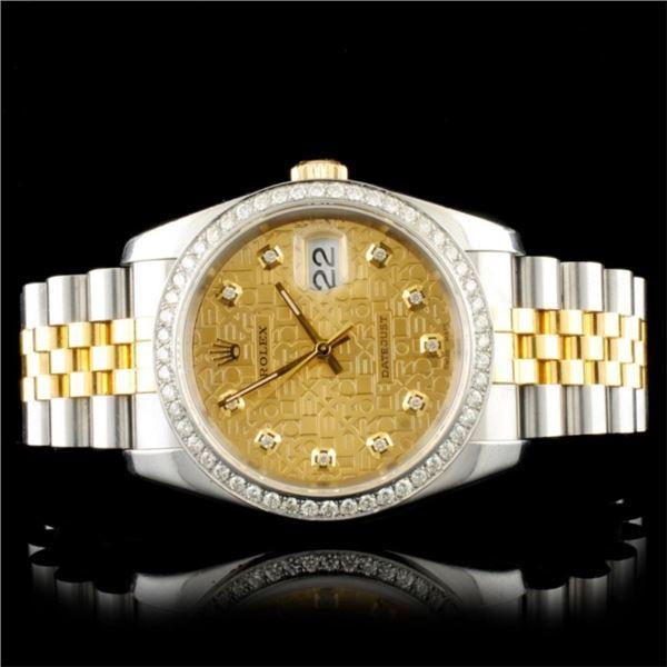 Rolex DateJust 116233 YG/SS Diamond 36MM Watch