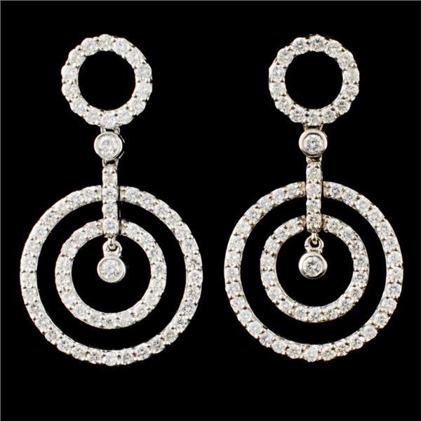 18K Gold 2.10ctw Diamond Earrings
