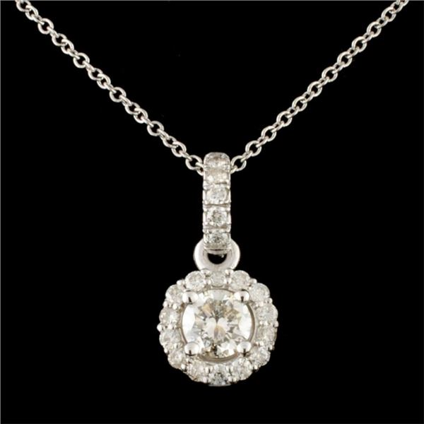 14K Gold 0.78ctw Diamond Pendant