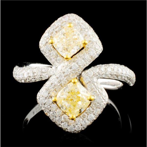 18K Gold 2.05ctw Fancy Diamond Ring