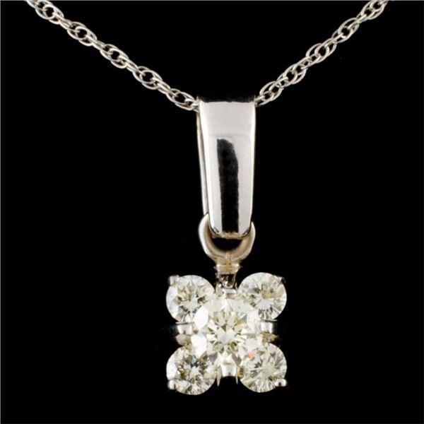 14K Gold 0.52ctw Diamond Pendant