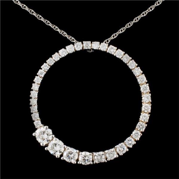 14K Gold 1.62ctw Diamond Pendant