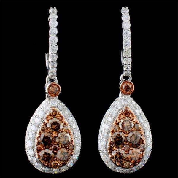 14K Gold 2.48ctw Fancy Diamond Earrings