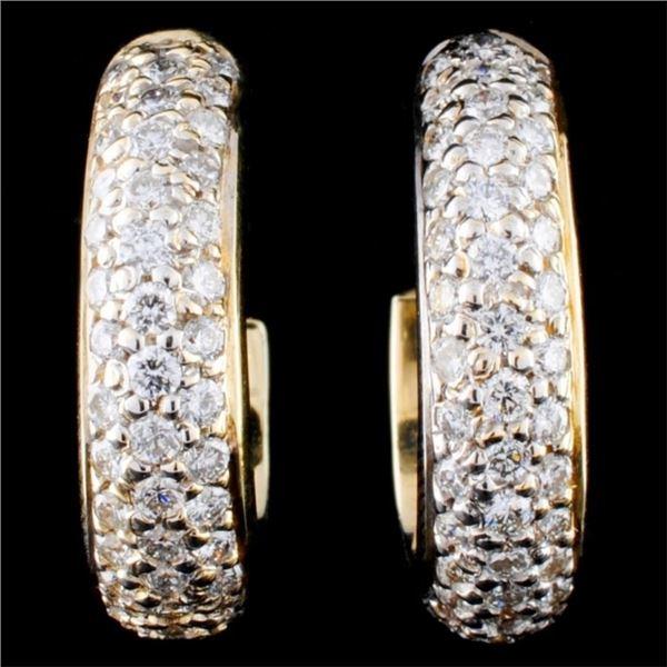 14K Gold 2.56ctw Diamond Earrings