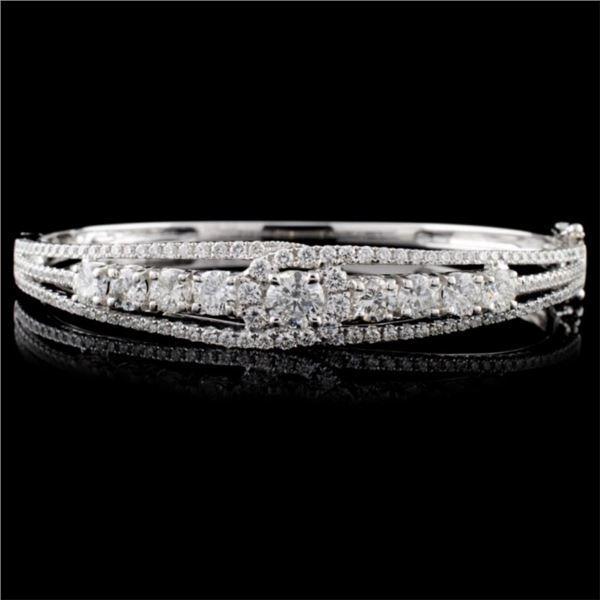 18K White Gold 1.18ctw Diamond Bangle
