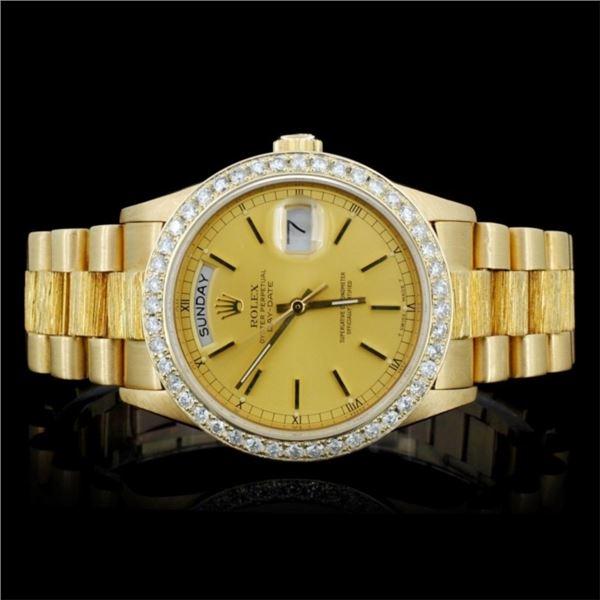 Rolex 18K YG Day-Date Diamond Gent's Watch