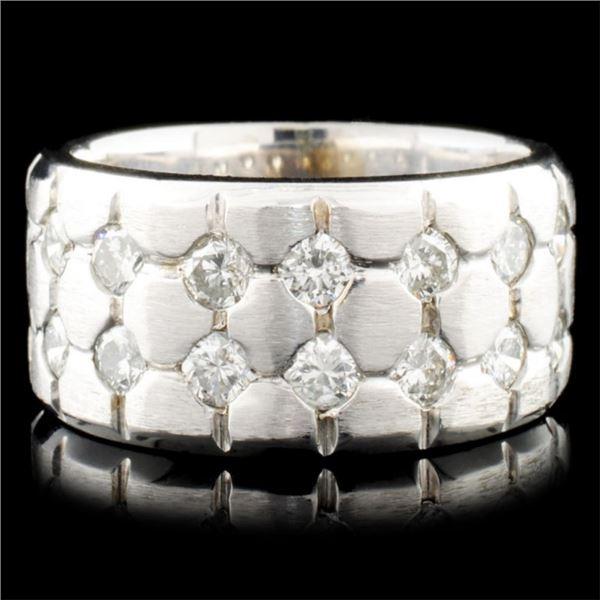 14K White Gold 1.97ctw Diamond Ring