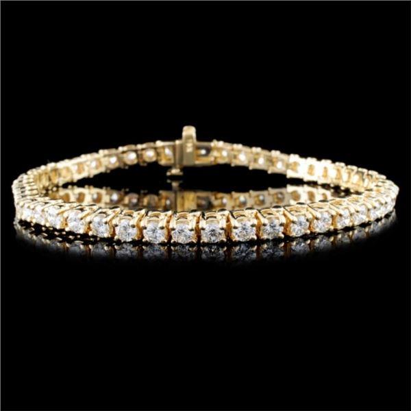 14K Gold 5.38ctw Diamond Bracelet