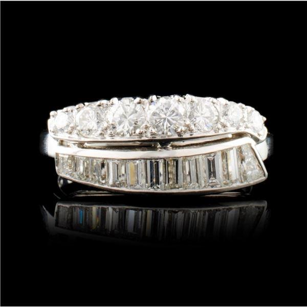 Platinum 1.26ctw Diamond Ring