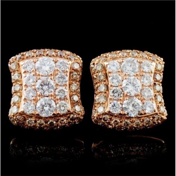 14K Rose Gold 1.46ctw Diamond Earrings