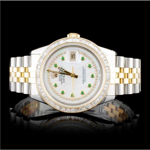 Rolex DateJust 3.00ct Diamond 36mm Wristwatch