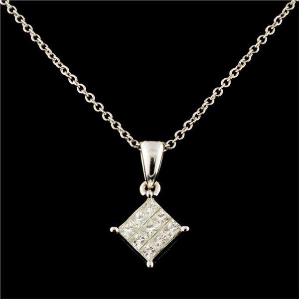 18K Gold 0.14ctw Diamond Pendant