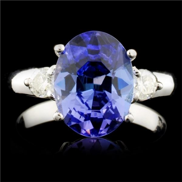 14K Gold 3.07ct Tanzanite & 0.30ctw Diamond Ring