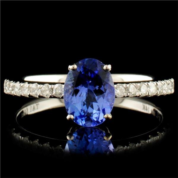 14K Gold 1.59ct Tanzanite & 0.21ctw Diamond Ring