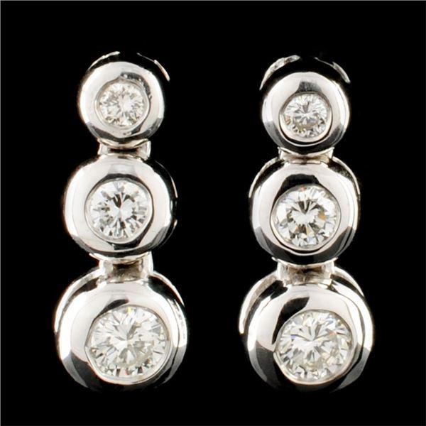 14K Gold 0.50ctw Diamond Earrings