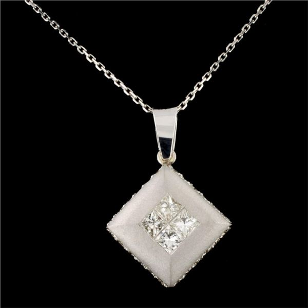 18K Gold 1.68ctw Diamond Pendant