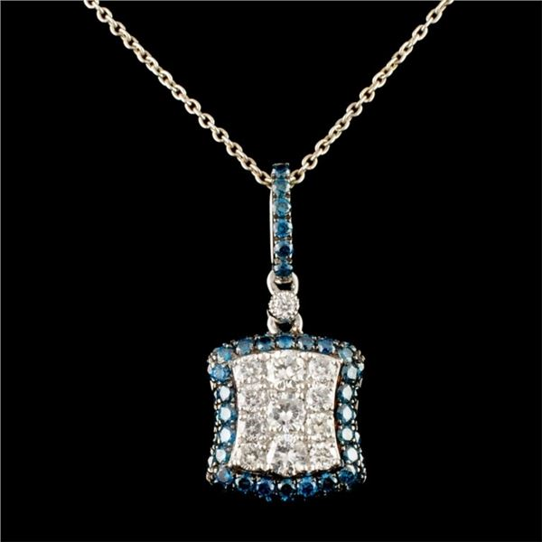 14K Gold 1.11ctw Diamond Pendant